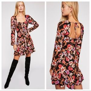 NWT Free People Forever Printed Mini Dress Size 8